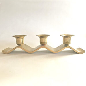 Santa Fe Marketplace Heavy Brass Triple Candle Holder