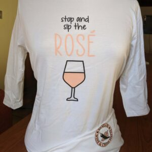 Santa Fe Marketplace Women's Stop & Sip the Rosé 3/4 Sleeve