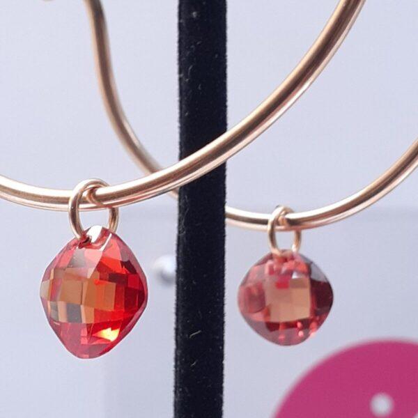Santa Fe Marketplace Hammered Gold Hoop Earrings