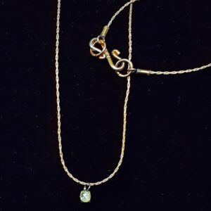 Santa Fe Marketplace Mini-Necklet Tiny Diamond Drop