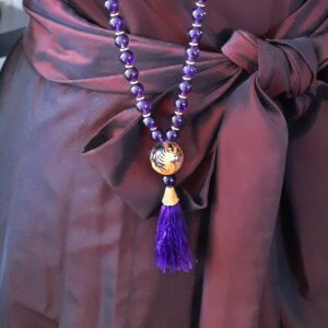 Santa Fe Marketplace Amethyst Rope Necklace