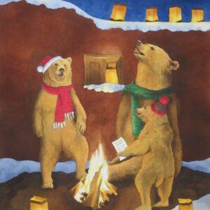 Santa Fe Marketplace 'Silent Night' painting