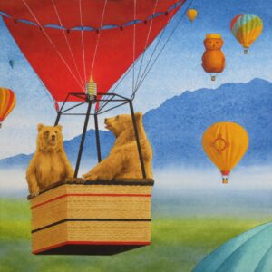 "Santa Fe Marketplace ""Bearloon Fiesta"" painting"