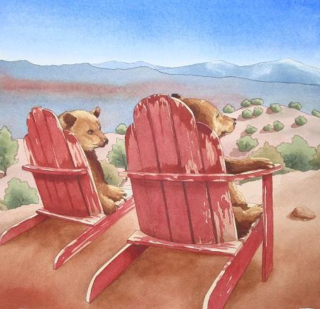 "Santa Fe Marketplace ""Contemplation"" painting"