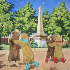 Santa Fe Marketplace 'Dancing on the Plaza' painting