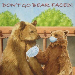 Santa Fe Marketplace 'Don't Go Bear Faced' painting
