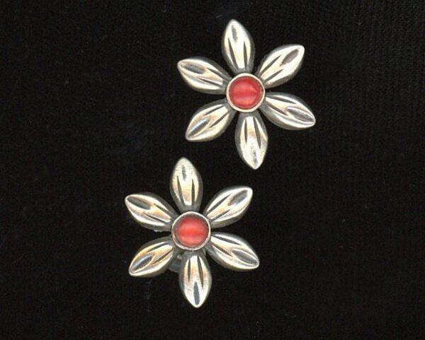 Santa Fe Marketplace Desert Flower Silver Post Earrings