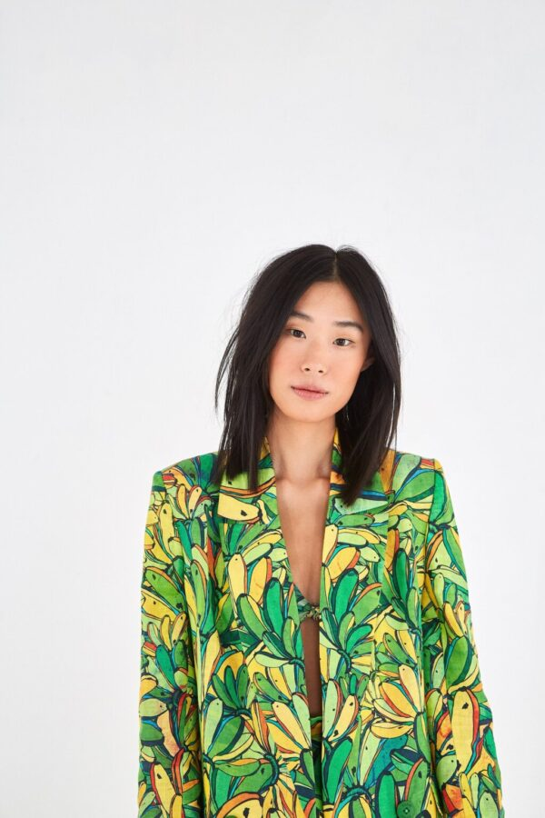 Santa Fe Marketplace Green Banana Blazer