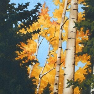 "Santa Fe Marketplace 'Golden Canopy"" painting"