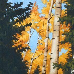 Santa Fe Marketplace 'Golden Canopy' painting