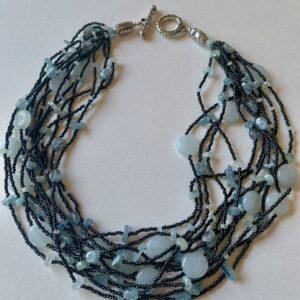 Santa Fe Marketplace Tribal Bead, Aquamarine Necklace