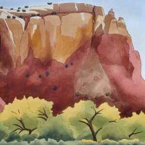 "Santa Fe Marketplace ""Kitchen Mesa from Ghost Ranch"" painting"