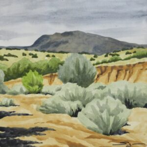"Santa Fe Marketplace ""Galisteo Basin Arroyo"" painting"