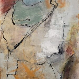 "Santa Fe Marketplace ""Bedrock No. 2"" painting"