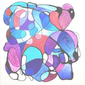 "Santa Fe Marketplace ""Crimson Tide"" – Original Painting by Sara Miller"
