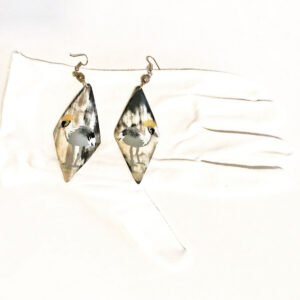 Santa Fe Marketplace Handpainted Earrings from Kenya Africa