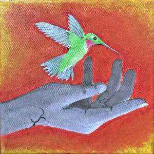 Santa Fe Marketplace Hummingbird and Hand V