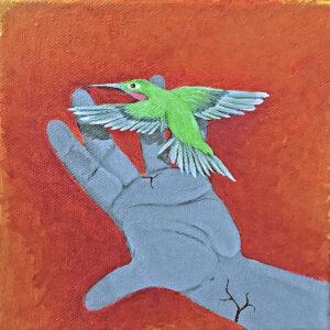 Santa Fe Marketplace Hummingbird and Hand IV