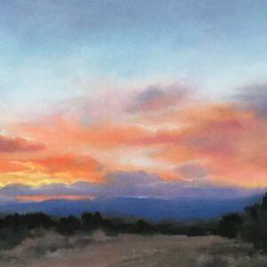 Santa Fe Marketplace Winter Sunset