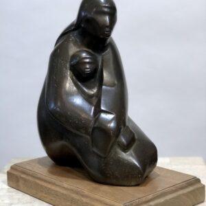 Santa Fe Marketplace Almost Asleep bronze sculpture by Allan Houser