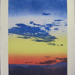 Santa Fe Marketplace Nightfall From Studio by John Hogan