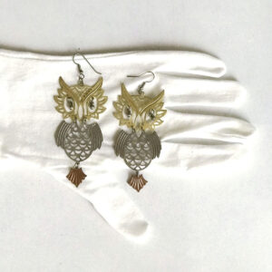 Santa Fe Marketplace Large Owl Earrings
