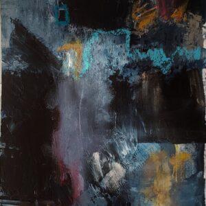 "Santa Fe Marketplace ""Night Essence No. 1"" painting"