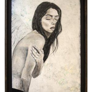 Santa Fe Marketplace Seraphim – Female Portrait – Acrylic Painting 29″x40″