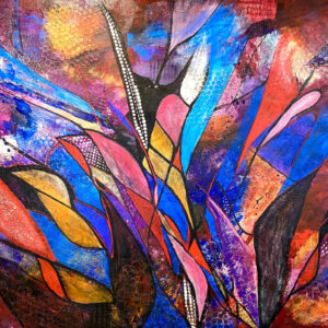 "Santa Fe Marketplace ""Shattered"" – Original Painting by Sara Miller"