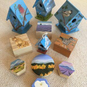 Santa Fe Marketplace Hand Painted Boxes