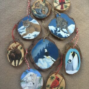 Santa Fe Marketplace Hand Painted Wooden Ornaments