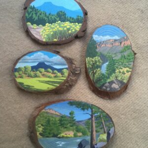 Santa Fe Marketplace Hand Painted Wood Miniatures