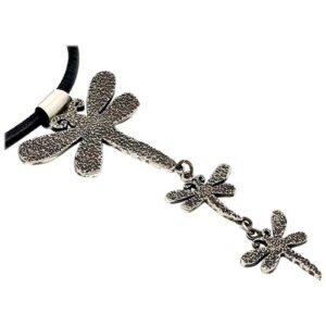 Santa Fe Marketplace Dragonfly Drop Necklace by Melanie Yazzie