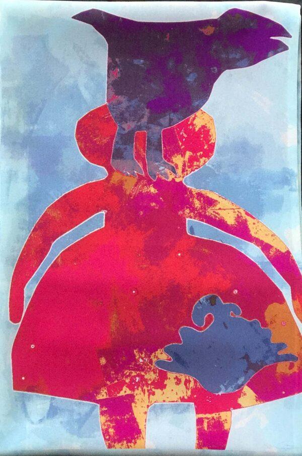 Santa Fe Marketplace Raven and Cedar Scarf by Melanie Yazzie