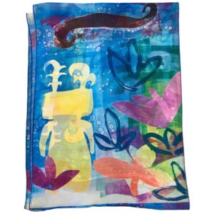 Santa Fe Marketplace The Rains Came scarf by Melanie Yazzie