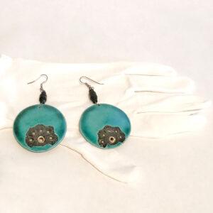 Santa Fe Marketplace Brass Cloisonne Earrings