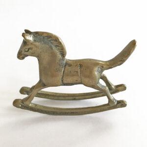 Santa Fe Marketplace Mini Brass Rocking Horse
