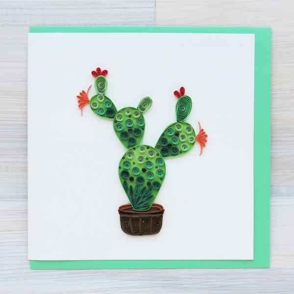 Santa Fe Marketplace Quilling Greeting Card (Cactus)