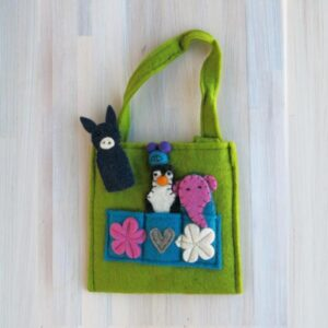 Santa Fe Marketplace Felt Puppet Purse (Green)