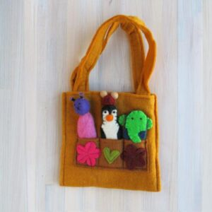 Santa Fe Marketplace Felt Puppet Purse (Gold)