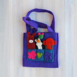 Santa Fe Marketplace Felt Puppet Purse (Purple)
