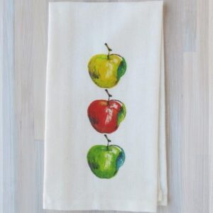 Santa Fe Marketplace French Graffiti Tea Towel (Apple)