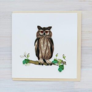 Santa Fe Marketplace Quilling Greeting Card (Owl)