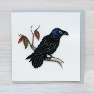 Santa Fe Marketplace Quilling Greeting Card (Raven)