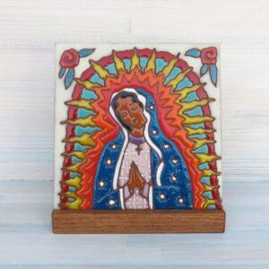 Santa Fe Marketplace Ceramic Tile (Lady of Guadalupe)