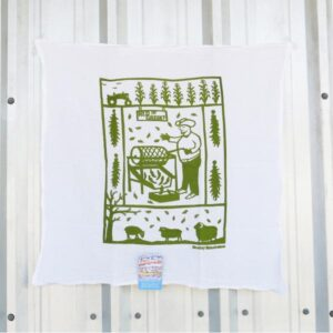 Santa Fe Marketplace Kei & Molly Flour Sack Kitchen Towel (Green Chile Roaster)