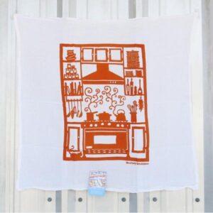 Santa Fe Marketplace Kei & Molly Flour Sack Kitchen Towel (Orange Kitchen)