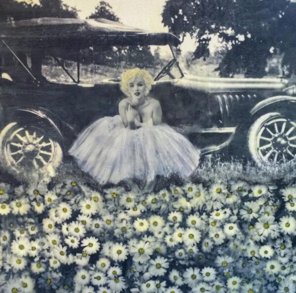 Santa Fe Marketplace OId Fashioned Girl – Original Mixed Media Art