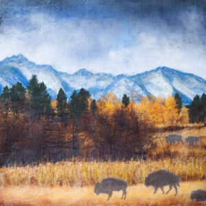 Santa Fe Marketplace Spirit Of The Rockies – Original Mixed Media Art