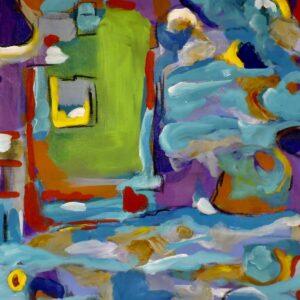 """Santa Fe Marketplace """"Ocean at My Window """" Fine Art by Bouchra Belghali"""